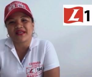 Marta García, candidata a la Cámara por el partido Liberal.
