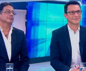 Gustavo Petro y Carlos Caicedo.