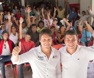 Rubén Jiménez fue bien recibido en los municipios.