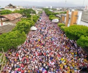 Marcha de apoyo a Vargas Lleras.
