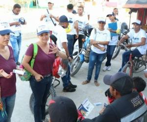 Liane Saumet y Beatriz Polo, aspirantes a la Cámara por partido Centro Democrático, lista encabezada por el también aspirante Rubén Jiménez, recorrieron los municipios de Ciénaga, Fundación y Algarrobo.