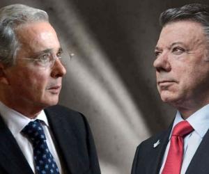 la dispuesta entre el expresidente Álvaro Uribe y el actual mandatario Juan Manuel Santos polarizó al país.