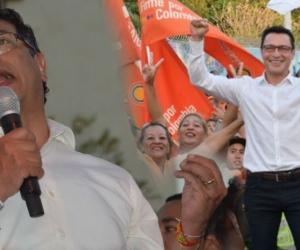 Gustavo Petro y Carlos Caicedo estuvieron este miércoles en plaza pública socializando sus campañas.