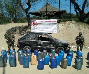 Los galones de contrabando serían comercializados en el departamento.