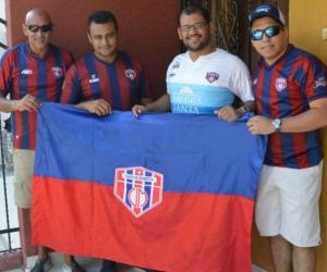 De izquierda a derecha: Jorge Alexander Guerrero Yánez, Luis Jorge Guerrero Rivero, Fabián Guerrero Rivero y Paul González Guerrero.