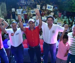 Fabián Castillo y Carlos Mario Farelo en Ciénaga.