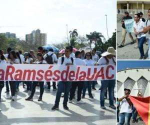 Protesta en la Plaza de La Paz en Barranquilla.