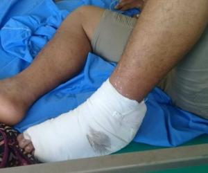 Jorge Luis Rojano resultó herido en confusos hechos que se presentaron en el barrio La Esmeralda.
