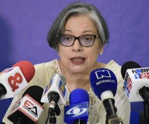 La Fiscal General encargada, María Paulina Riveros.