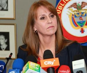 La ministra de Trabajo, Griselda Janeth Restrepo Gallego.