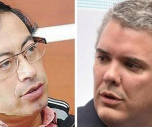 Gustavo Petro e Iván Duque.