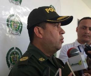 Comandante de la Policía del Magdalena, coronel John Jairo Rodríguez.