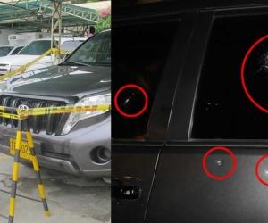 La Fiscalía General de la Nación descartó este lunes que contra el vehículo en el que se desplazaba el pasado viernes en Cúcuta