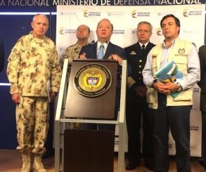 El Ministro de Defensa, Luis Carlos Villegas hizo la denuncia.