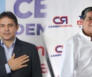 Honorio Henríquez (izq) y Antonio Zabaraín (der) le deben sus votos a regiones distintas al Magdalena.