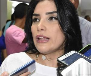 Aida Merlano, congresista, cuya sede política fue allanada por presuntas irregularidades.