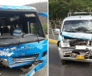 Así quedaron los dos carros involucrados en el accidente del Ziruma.