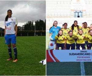 Andrea Carolina Pérez Clemente, jugadora samaria que se encuentra en la selección Colombia.
