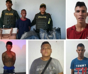 Algunos de los capturados.