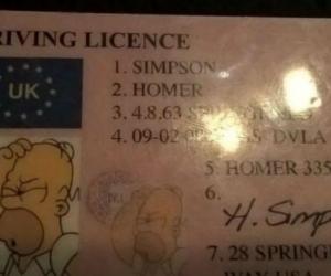 Licencia con la que el conductor quería burlar a las autoridades.
