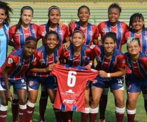 Formación inicial del Unión Femenino, que derrotó 4-0 a Real Cartagena.