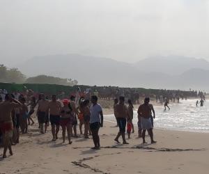 Más de 2.500 personas que han llegado al Parque Tayrona.