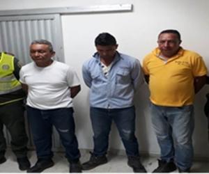 Los capturados fueron identificados como Oscar David Ochoa Vargas, Emel Enrique Romero Sánchez y José de Jesús Lubo Castiblanco.