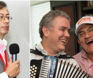 Gustavo Petro, Iván Duque y Poncho Zuleta.