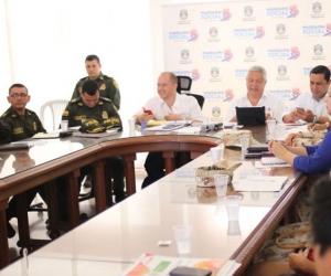 Mesa de trabajo del Comité de Seguimiento Electoral.