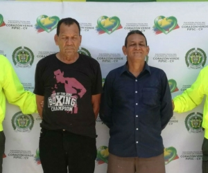 Los capturados José Rafael Navarro Martínez y a Farid Antonio Rodríguez Páez.