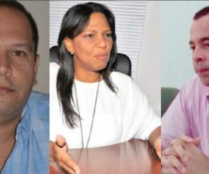 Alex Velásquez, Nidia Rosa Romero y Edward Torres, respectivamente.