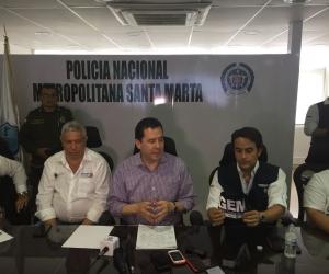 El gerente de frontera de la Presidencia, Felipe Muñoz, junto al director de Migración Colombia, Christian Krüger.