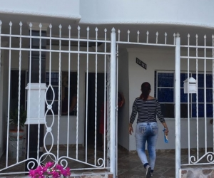 Fachada de la casa donde vivía la pequeña prima de Teófilo Gutiérrez.