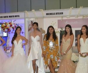 La diseñadora Michelle Mejía se destacó durante el evento.