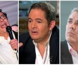 Petro, Vargas y Duque.