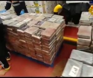 Cocaína incautada en España.