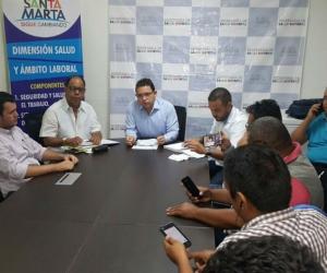 Rueda de prensa del alcalde Rafael Martínez.