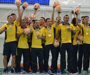 La selección Colombia de futsal ganó el oro en los Juegos Bolivarianos.