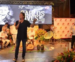 El cantante Carlos Vives, el homenajeado del Festival Vallenato.