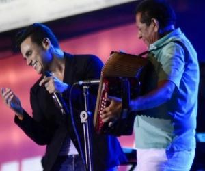 El cantante se presentó en el Parque de la Leyenda en Valledupar.