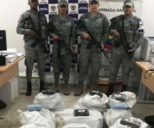 Las autoridades hallaron 500 kilos de cocaína.