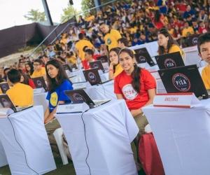 Los estudiantes, 8.500 en total, hacen parte de diversas instituciones de Colombia.