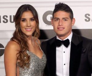 James Rodríguez y su expareja Daniela Ospina.