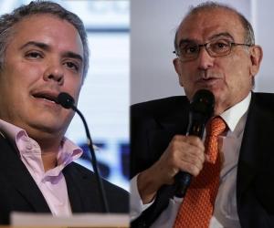 Iván Duque y Humberto De La Calle.