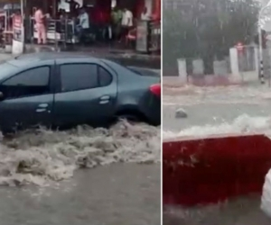 Situaciones de emergencias se registraron tras el fuerte aguacero.