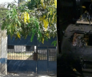 Los delincuentes pusieron en riesgo el suministro de agua en el sector.