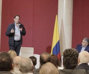 Germán Vargas Lleras durante su intervención en el evento.