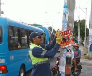 Estas acciones se realizaron en las avenidas: El Rio, El Libertador y El Ferrocarril.