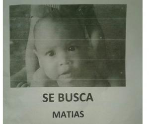 Matías, el bebé desaparecido la mañana de este lunes festivo.