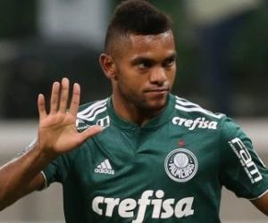 Miguel Ángel Borja, jugador del Palmeiras.